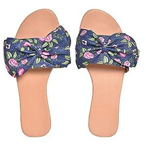 Street Style Womens Casual Wear Flat Sandal   Floral Design Sandal for Women