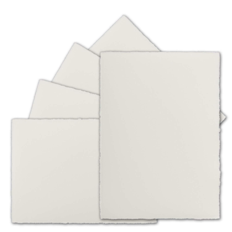 75 Stück Din A6 Vintage Karten, Echtes Bütten-Papier, Bütten-Papier, Bütten-Papier, 105 x 148 mm, Natur-Weiß halbmatt - ohne Falz - Vellum Oberfläche - Original Zerkall-Bütten B07F3GM1R1 | Billig  b2f42d