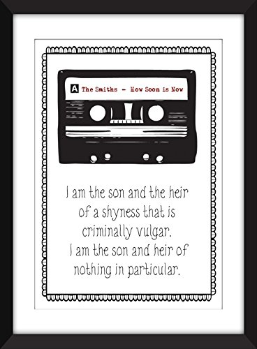 "The Smiths How Soon is Now Lyrics Print 11 x 14/8 x 10/5 x 7"" A3/A4/A5 Typography Print, Ideal Gift for Smiths/Morrissey Fans"
