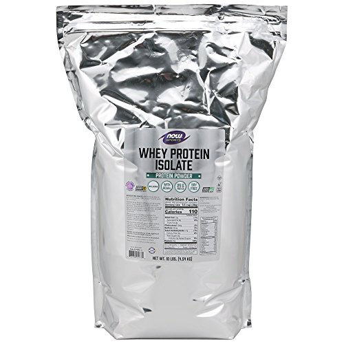 NOW Sports Nutrition, Whey Protein Isolate Powder, Unflavored, 10-Pound