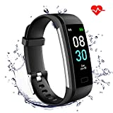 GINOZO Fitness Tracker, Activity Tracker Watch with Heart Rate Monitor, Pedometer IP68 Waterproof with Calorie Counter and Message Notification for Android and iOS