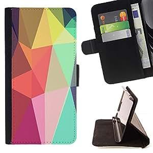 Momo Phone Case / Flip Funda de Cuero Case Cover - Formas Lollipop Android púrpura - LG Nexus 5 D820 D821
