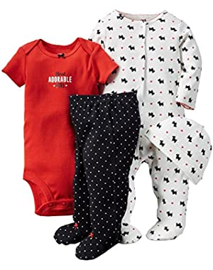 Black Scottie Dog 4 Piece Sleep & Play Set 3 Months