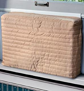 window air conditioner outside. indoor air conditioner cover (beige) (medium - 15 -17\ window outside 7