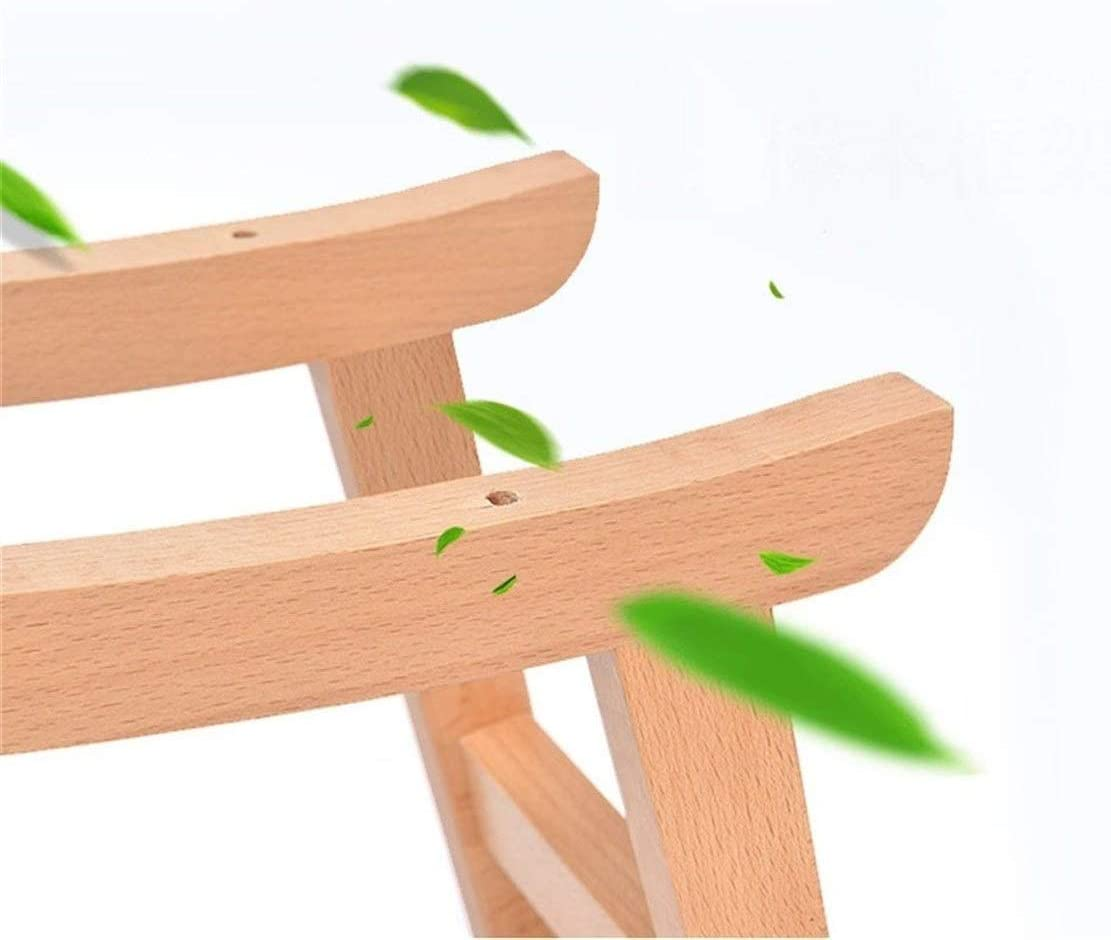 B-fengliu Massivholz-Stoff Baumwollgewebe Einfache Kreative leichte bequemer Sofa Wohnzimmer Schlafzimmer Haus Pedal Schuhe Ersatz Hocker (Color : C) D