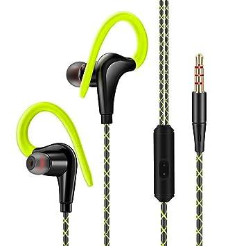 Calistouk - Auriculares Deportivos con Cable y micrófono ...