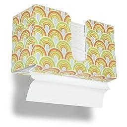 TrippNT 51340 Swirl Plastic Dual-Dispensing Paper Towel Holder, 10 7/8\