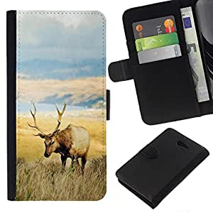 All Phone Most Case / Oferta Especial Cáscara Funda de cuero Monedero Cubierta de proteccion Caso / Wallet Case for Sony Xperia M2 // Field Deer