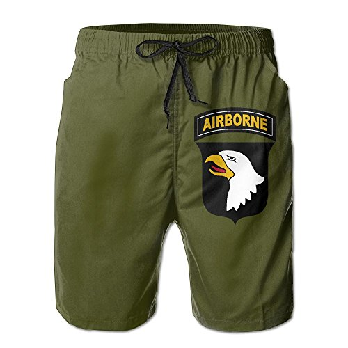 Airborne Shorts (STLYESHORTS Army 101st Airborne Division Men's Polyester Beach Shorts Quick Dry)