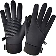 Winter Gloves Touch Screen,Windproof Water Resistant Warm Gloves Non-Slip for Running Cycling Goalie,Gift for