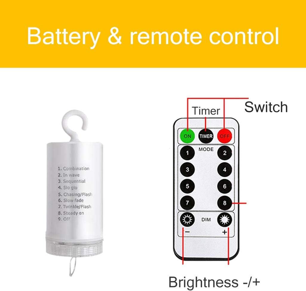 XLOO Lichterketten 14 LED 2m Weihnachtslichter - (Plug-in/Batterie/Solar) Lichterketten, für Indoor-Party Halloween Weihnachten - Hochzeitsplan Battery
