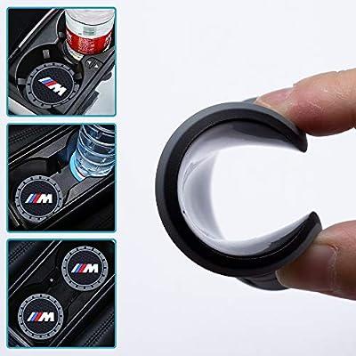 ChuangWanYue 2PC 2.75 Tough Car Logo Vehicle Travel Auto Cup Holder Insert Coaster Can for BMW 1 3 5 7 Series F30 F35 320li 316i X1 X5 X6 (X3 /X4 /5/7/M Series): Automotive