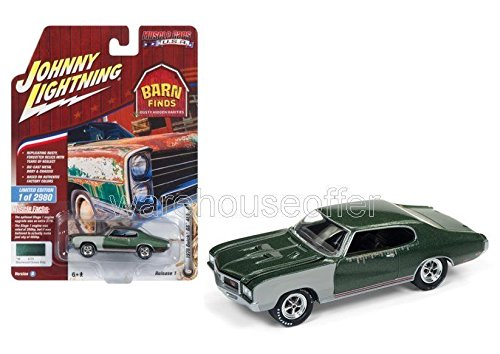 NEW DIECAST TOYS CAR JOHNNY LIGHTNING 1:64 MUSCLE CARS USA 2018 RELEASE 1 VERSION B 1970 BUICK GS 455 SHERWOOD GREEN POLY JLCP7083-24