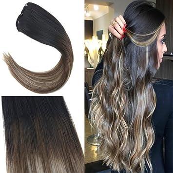 Haarverlängerung Und Perücken Haarteile Offen Moresoo Wrap Um Pferdeschwanz Menschliches Haar Braun #6 Highliighted Mit Blonde #60 Gerade Menschliches Haar Pferdeschwanz 100g