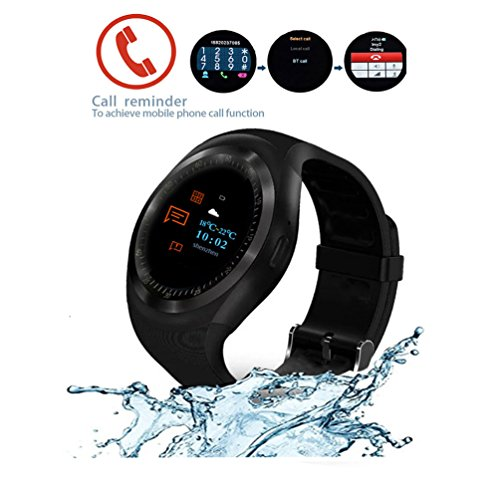 SUNETLINK Smart Watches Fitness Tracker Touch Screen Heart Rate Blood Pressure Monitor Compatible Men Women, Wearable Sport Smartwatch Calories Pedometer Sync Phone Calls SMS Compatible Android