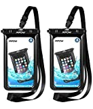 Mpow Upgraded Floating Waterproof Phone Case, IPX8 Underwater Dry Bag New Type TPU Cellphone Pouch for iPhone Xs/Xs Mas/Xr/X/8/7/ 7 Plus, Google Pixel, LG G6, Huawei P9/ P9 Plus, Galaxy S9/S8 2 Packs