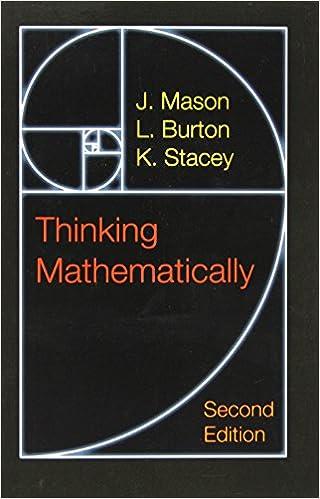 Amazon thinking mathematically 2nd edition 9780273728917 thinking mathematically 2nd edition 2nd edition fandeluxe Images