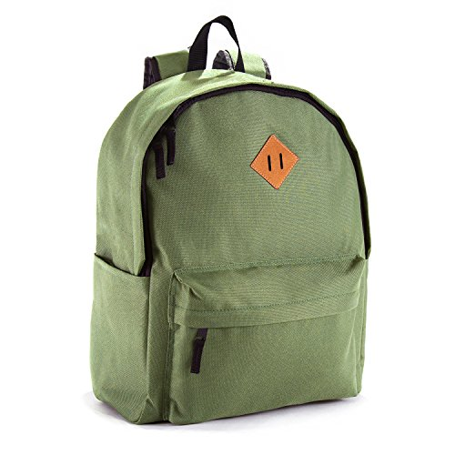 JETPAL Everyday School Laptop Backpack fits up to 15.6 - Cargo Green & Beige ()