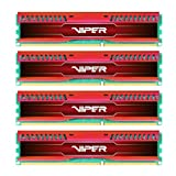 Patriot 32GB(4x8GB) Viper III DDR3 1866MHz (PC3 15000) CL10 Desktop Memory With Low Profile Red Heatsink - PVL332G186C0QKR