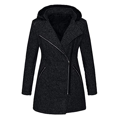 Gorgeous Coat,KIKOY Womens Irregular Hem Long Sleeve Wrap Elegant Parka - Belk Shoes