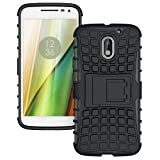 Zokney Motorola Moto E3 Back Cover Dual Layer Protection Rugged Armor Case For Moto E3 Cover Pouch With Stand Feature