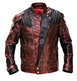 Spazeup Star Galaxy 2 Distressed Maroon Leather Jacket