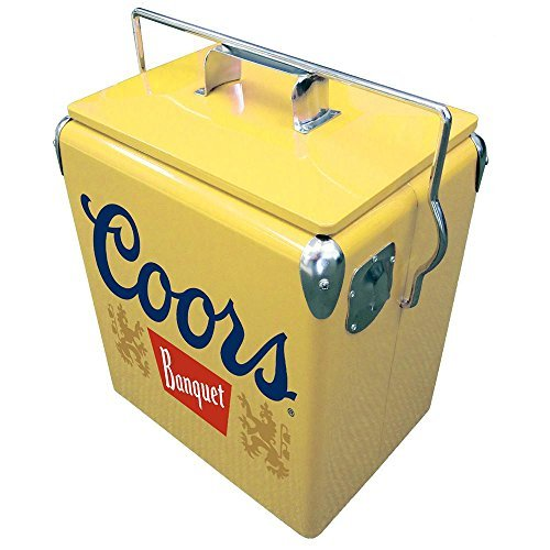 13 l Stainless Steel Coors Banquet Vintage Ice Chest Cooler by Koolatron