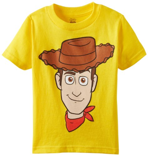 Disney Little Boys' Toddler Woody T-Shirt, Yellow, 5T
