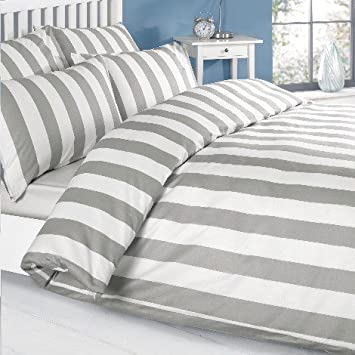 Louisiana Bettwasche Bettbezug Grau Weiss 100 Baumwolle 200