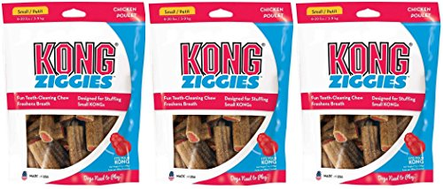 KONG Stuff'N Ziggies Small Dog Treat, 7-Ounce (Pack of 3) (Kong Ziggies Treats Dog)
