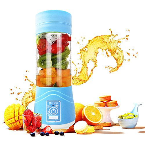 Portable Personal Blenders,Lovep Smoothie Blender USB Rechargeable Juicer Cup Household Fruit Mixer,Food Grade PC+Food Grade Rubber Seal with Powerful Motor, Water Bottle