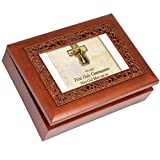 Cottage Garden Goddaughter Woodgrain Inspirational Ornate Inlay Music Box Plays You Light Up My Life