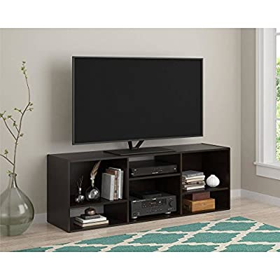 """TV Stand or Shelving Unit for TVs up to 55"""", Espresso"""
