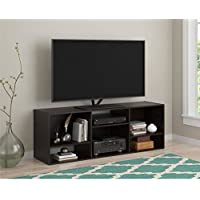 New Black TV Stand or Shelving Unit for TVs up to 55, Espresso Contemporary style Ample open storage Wood construction Black Forest (Espresso) finish Multiple units create entertainment solution