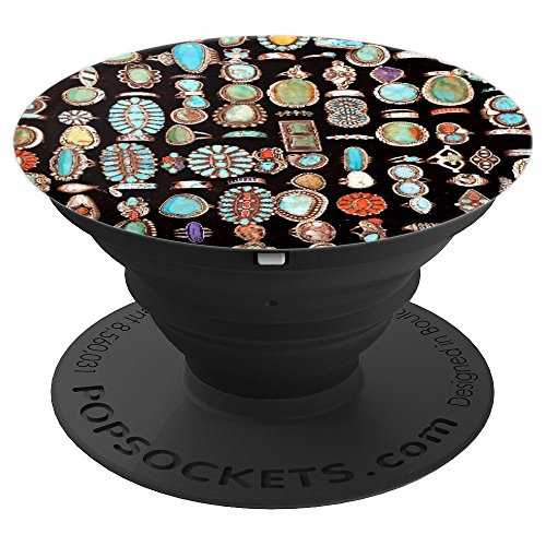 Turquoise Jewelry Aqua Native American Craft - PopSockets Grip and Stand for Phones and Tablets
