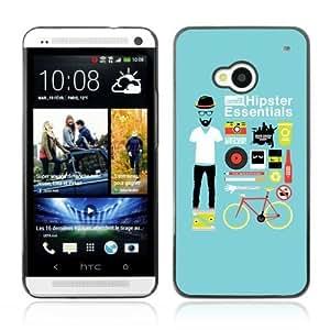 YOYOSHOP [Cool Hipster Essentials Kit] HTC One M7 Case hjbrhga1544