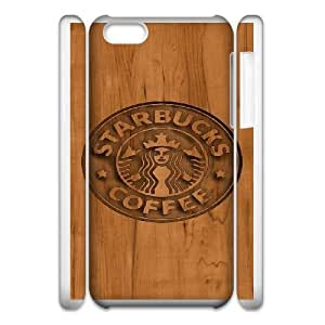 Design Cases iphone5c 3D Cell Phone Case White Starbucks Qkpur Printed Cover
