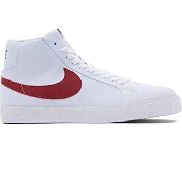 huge selection of dec41 a760f Nike SB Zoom Blazer Mid Toile Chaussures de Skate Blanc/Cèdre - -