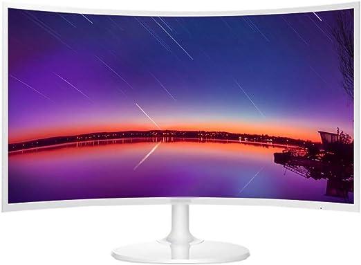 YXSP Monitores 27 Pulgadas Display LCD Curvado de Oficina Blanco, Display Protección de Los Ojos LED (HDMI Interface VGA): Amazon.es: Hogar