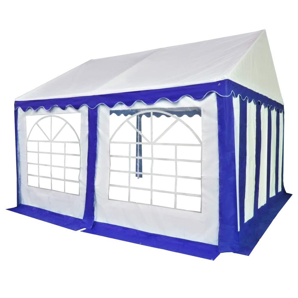 Xinglieu cenador de jardín de PVC 4 x 4 m Azul y Blanco Gazebo Plegable cenador de jardín: Amazon.es: Jardín