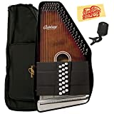 Oscar Schmidt OSC-OS21C Autoharp Bundle with Gig Bag, Tuner, and Polishing Cloth