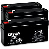KEYKO Genuine KT-633 6V 3.3Ah Battery SLA Sealed Lead Acid / AGM Replacemen ....