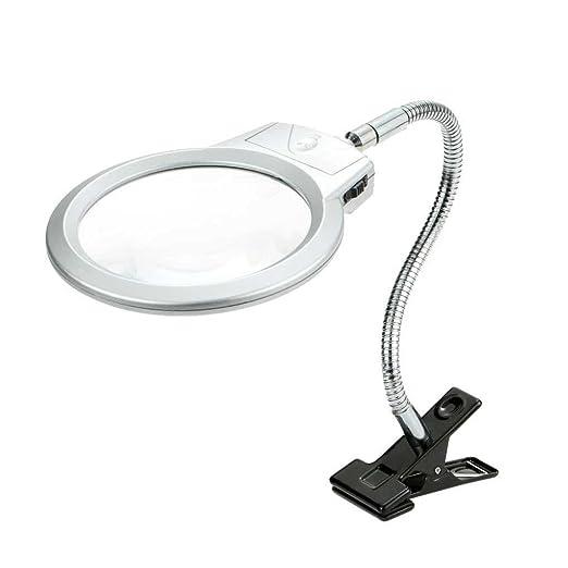 Kongnijiwa 2pcs LED Lupa de Mesa de Lectura de la lámpara de la ...