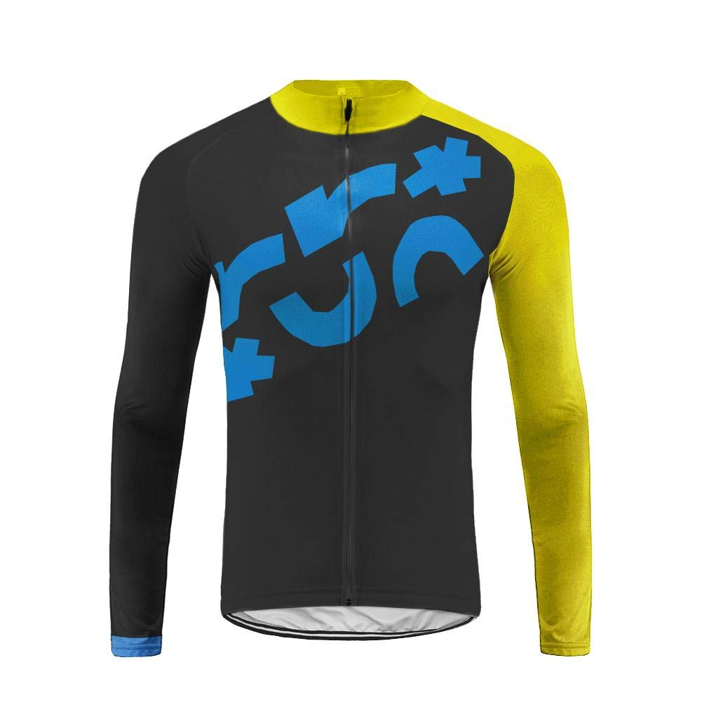 Uglyfrog Herren Fahrradtrikot Outdoor Männer Langarm Top Fahrradbekleidung für Männer mit Elastische Atmungsaktive Schnell Trocknen Stoff