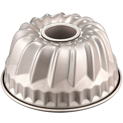CHEFMADE Bundt Cake Pan, 7-Inch Non-Stick Vortex-Shaped Kugelhopf Bakeware, FDA Approved for Oven and Instant Pot Baking (Champagne -