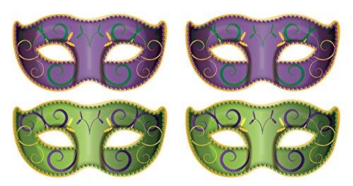 Beistle 53355 Jumbo Mardi Gras Mask Cutouts (4 Piece), 37