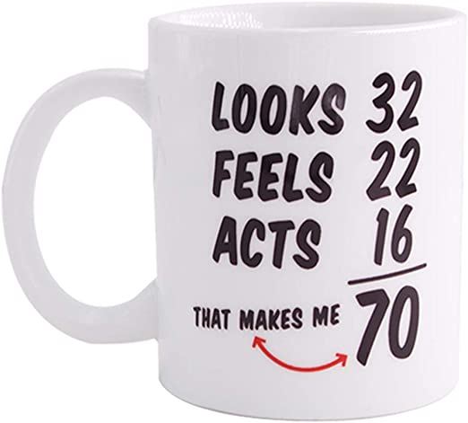 Old Codger 1950 Funny Mugs Novelty Presents 70th Birthday Gifts for Women Men