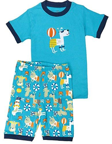 Babypajama Little Boys' Dogs Short Pajama Set 2 Piece T-Shirt & Pants Size 4 Years (Dog Clothing Stores)