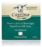 Caprina by Canus, Fresh Goat's Milk Soap Bar, Fragrance-Free (Pack of 8)