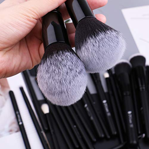 DUcare Makeup Brushes 27Pcs Professional Synthetic Goat Pony Hair Foundation Blending Face Eye Kit